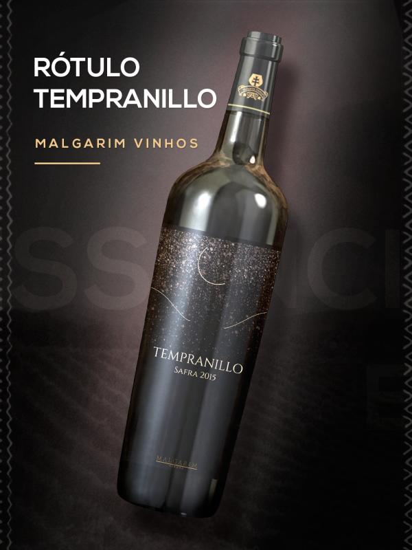 Rótulo Tempranillo Safra 2015 - Malgarim Vinhos